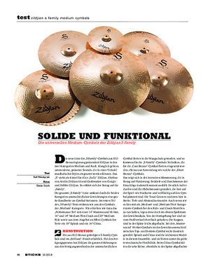 Sticks Zildjian S Family Medium Cymbals