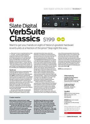 Computer Music Slate Digital VerbSuite Classics