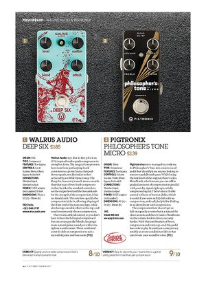 Guitarist Walrus Audio Deep Six