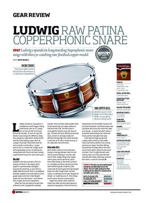 Rhythm Ludwig Raw Oatina Copperphonic Snare