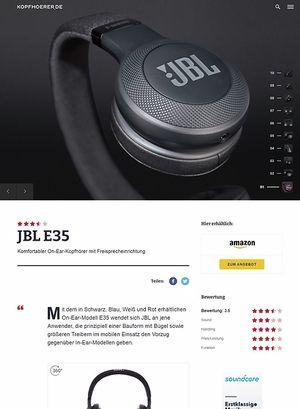 Kopfhoerer.de JBL by Harman E35 Black