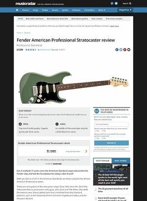 MusicRadar.com Fender American Professional Stratocaster