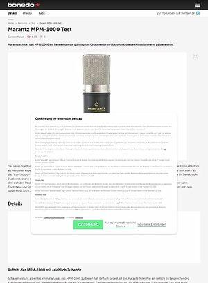 Bonedo.de Marantz MPM-1000