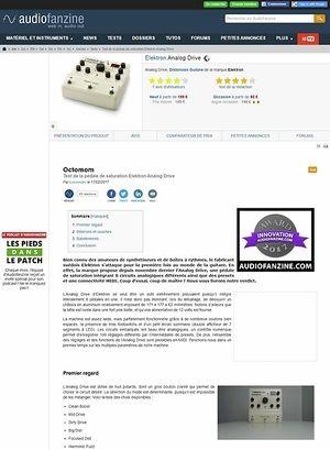 Audiofanzine.com Elektron Analog Drive
