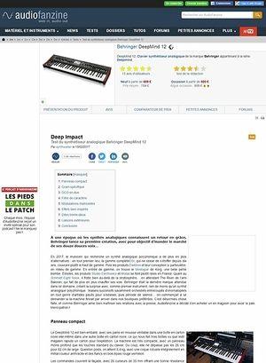 Audiofanzine.com Behringer DeepMind12