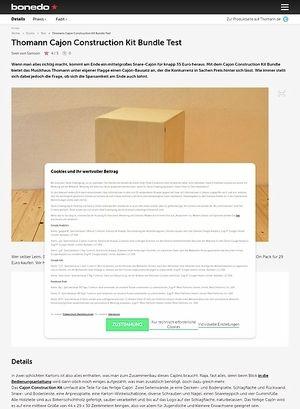 Bonedo.de Thomann Cajon Construction Kit Bundle