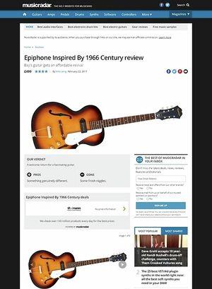 MusicRadar.com Epiphone Inspired  By 1966 Century
