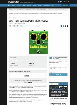 MusicRadar.com Way Huge Swollen Pickle MkII