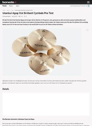 Bonedo.de Istanbul Agop Xist Brilliant Cymbals Pro