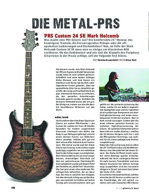Gitarre & Bass PRS Custom 24 SE Mark Holcomb