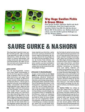 Gitarre & Bass Way Huge Swollen Pickle & Green Rhino