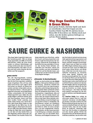 Gitarre & Bass Way Huge Swollen Pickle & Green Rhino