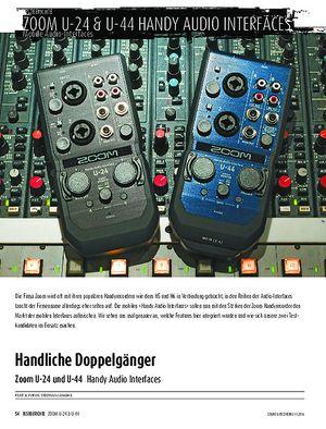 Sound & Recording Zoom U-24 und U-44