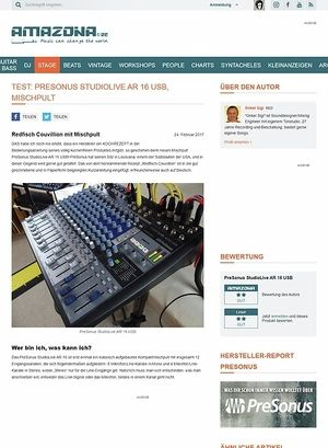Amazona.de PreSonus StudioLive AR 16 USB