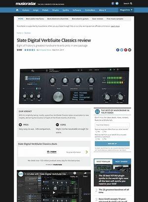 MusicRadar.com Slate Digital VerbSuite Classics