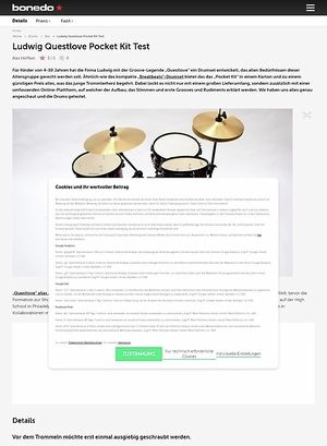 Bonedo.de Ludwig Questlove Pocket Kit