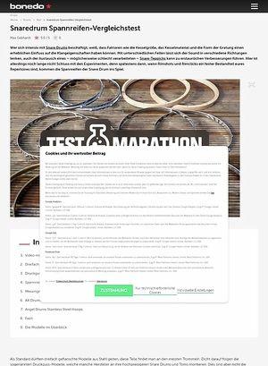 Bonedo.de Snaredrum Spannreifen-Vergleichstest