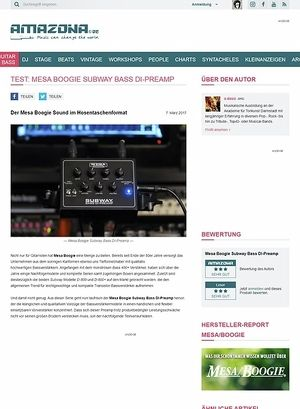 Amazona.de Mesa Boogie Subway Bass DI-Preamp