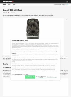 Bonedo.de Shure PG27-USB