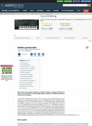 Audiofanzine.com Roland SYSTEM-8