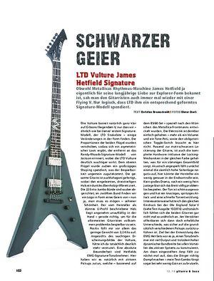 Gitarre & Bass LTD Vulture James Hetfield Signature