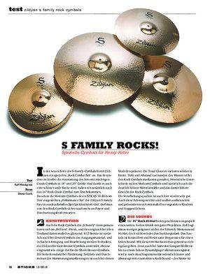 Sticks Zildjian S Family Rock Cymbals
