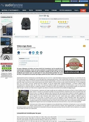 Audiofanzine.com Zoom Q2n