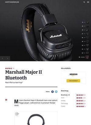 Kopfhoerer.de Marshall Major II Bluetooth Black