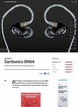 Kopfhoerer.de Earsonics SM64