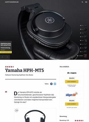 Kopfhoerer.de Yamaha HPH-MT5