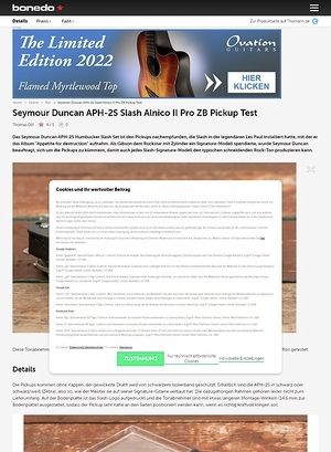 Bonedo.de Seymour Duncan APH-2S Slash Alnico II Pro ZB Pickup