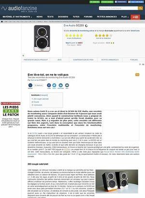 Audiofanzine.com Eve Audio SC203