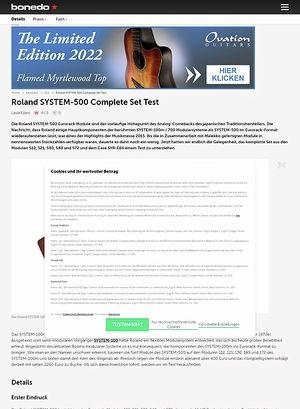 Bonedo.de Roland SYSTEM-500 Complete Set