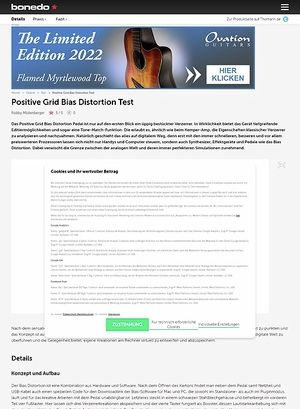 Bonedo.de Positive Grid Bias Distortion