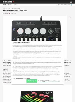Bonedo.de Keith McMillen K-Mix