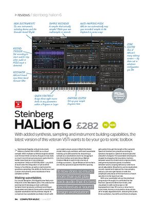 Computer Music Steinberg HALion 6
