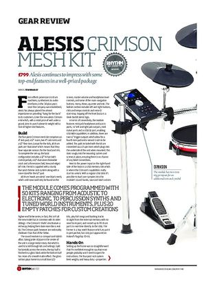 Rhythm Alesis Crimson Mesh Kit