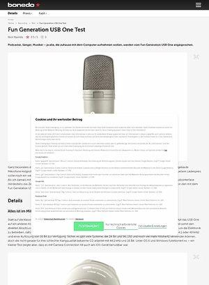 Bonedo.de Fun Generation USB One