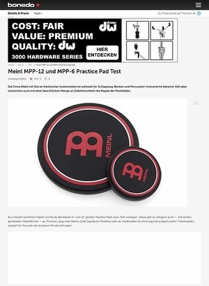 Bonedo.de Meinl MPP-12 und MPP-6 Practice Pad