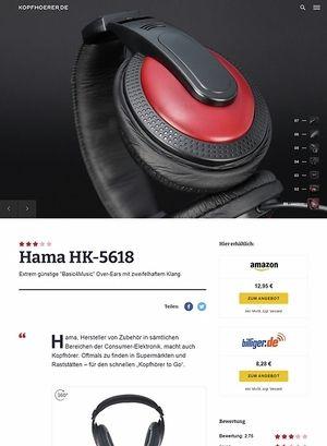 Kopfhoerer.de Hama HK-5618