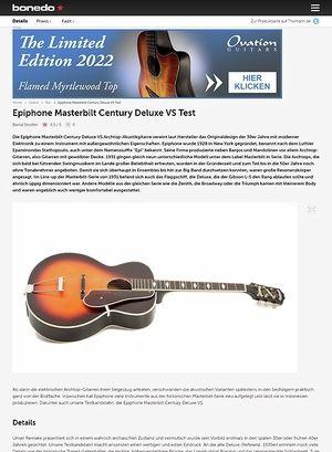 Bonedo.de Epiphone Masterbilt Century Deluxe