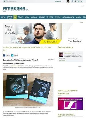 Amazona.de Sennheiser HD 8 DJ vs. HD 25