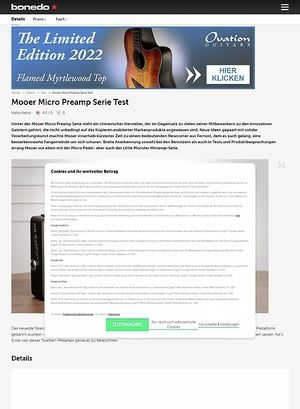 Bonedo.de Mooer Micro Preamp Serie