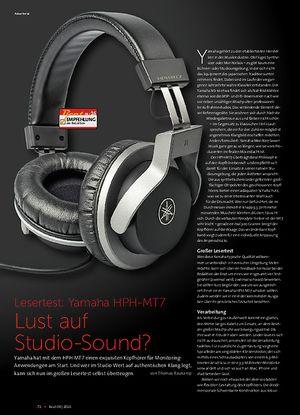 Beat Yamaha HPH-MT7 Lust auf Studio-Sound?