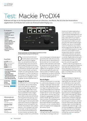 Beat Mackie ProDX4