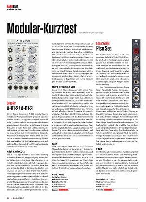 Beat Modular-Kurztest