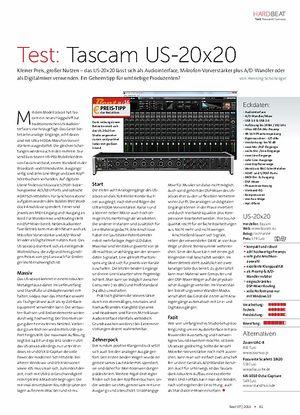 Beat Tascam US-20x20
