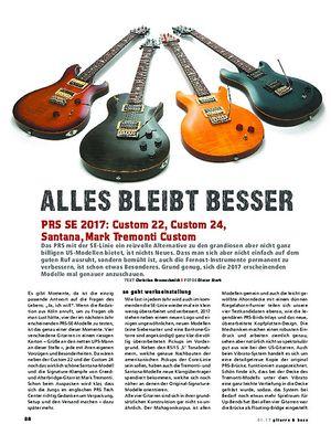 Gitarre & Bass PRS SE 2017: Custom 22, Custom 24, Santana, Mark Tremonti Custom