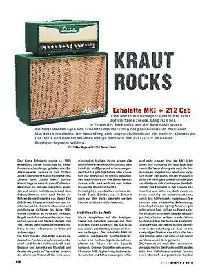 Gitarre & Bass Echolette MKI + 212 Cab