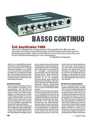 Gitarre & Bass Eich Amplification T-900